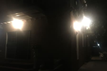 When you are walking towards your unit - there are more lights.