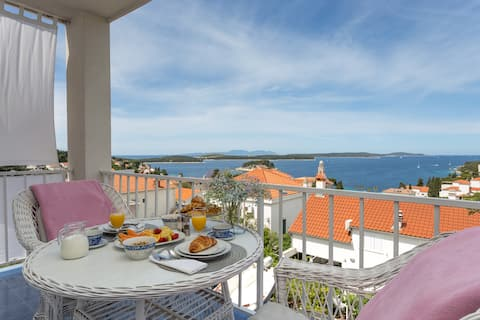 Apartamento para 2 personas con balcón con vistas al mar