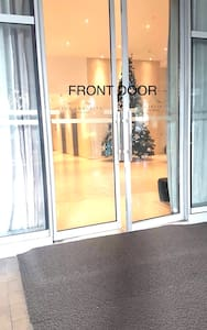 That's the front door. No steps.