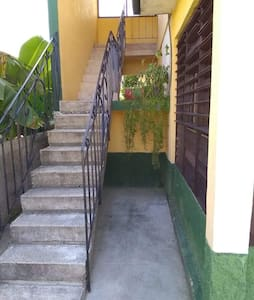 One flight of stairs