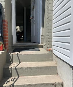 These the front door entrance stairs to get in the house.