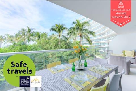 Peninsula 2HF1. Confortable Balcony & Bbq Condo