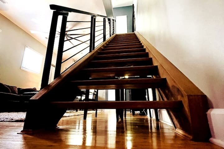 The real fun is upstairs.