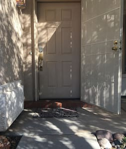 Front door is 35 inches wide; there is one 3 inch step to get in the house