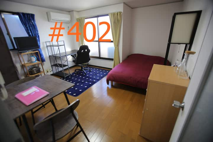# 402 sunny room now with a double bed