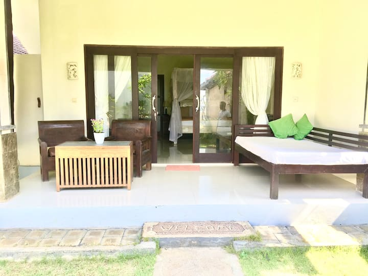 Garden View Room with 2 Beds - 20 meters to beach