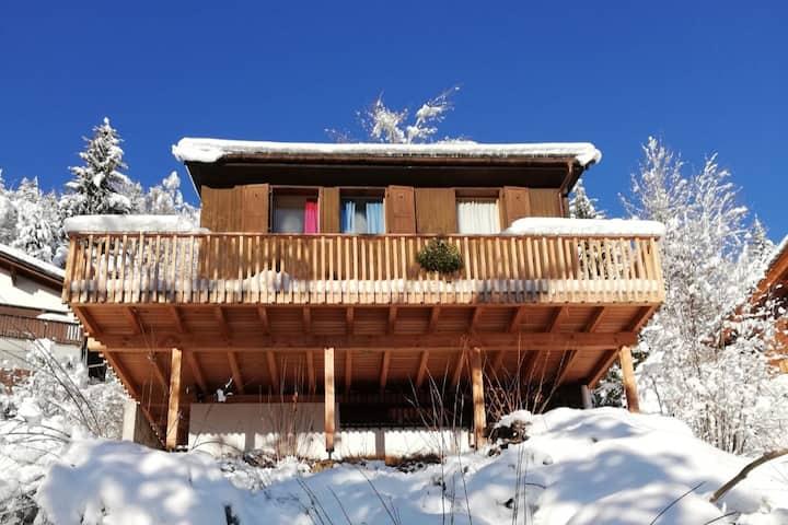 5 rooms Swiss wooden Chalet in Laax