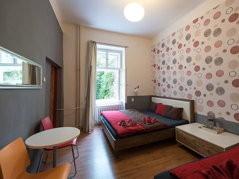 Monthly rent private room in hostel central Prague