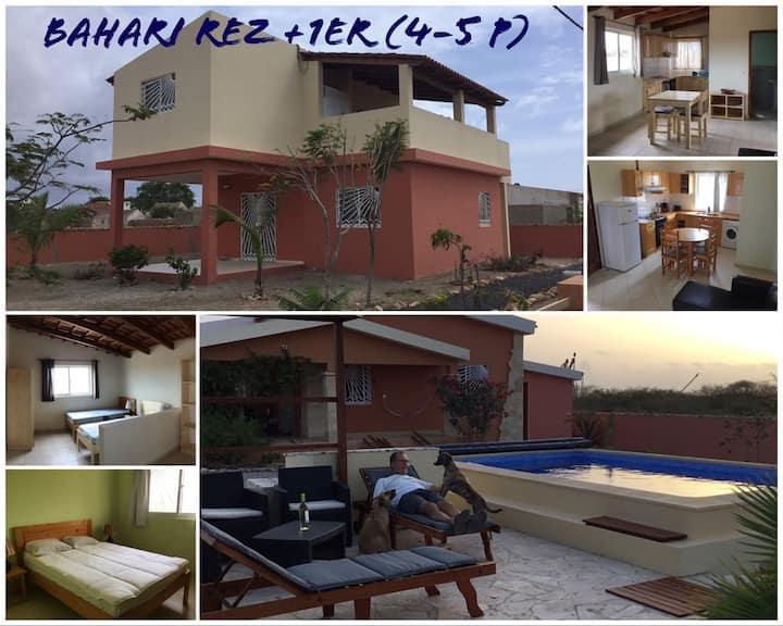 Maison Bahari  (4 ou 5 p) rez + 1er piscine WIFI