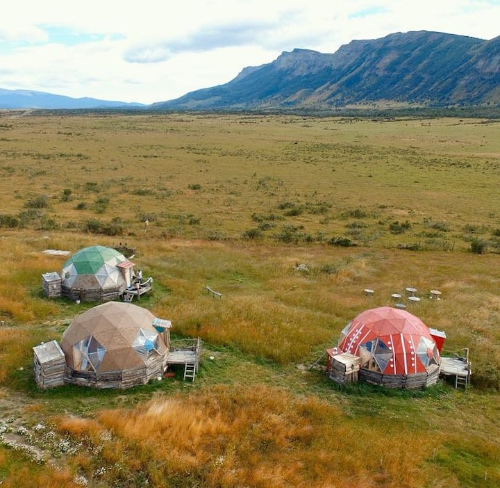Refugio FOSSIL: Domo Aonikenk. Puerto Natales.