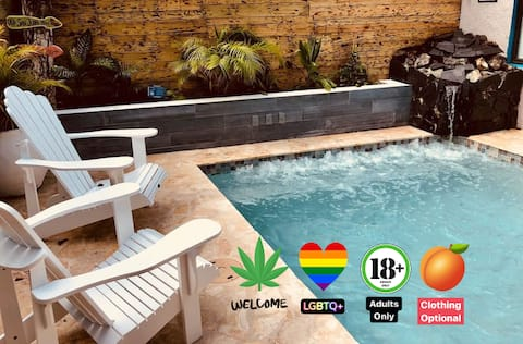 🌈 Queer 420 beach pool jacuzzi, eco friendly 🍁