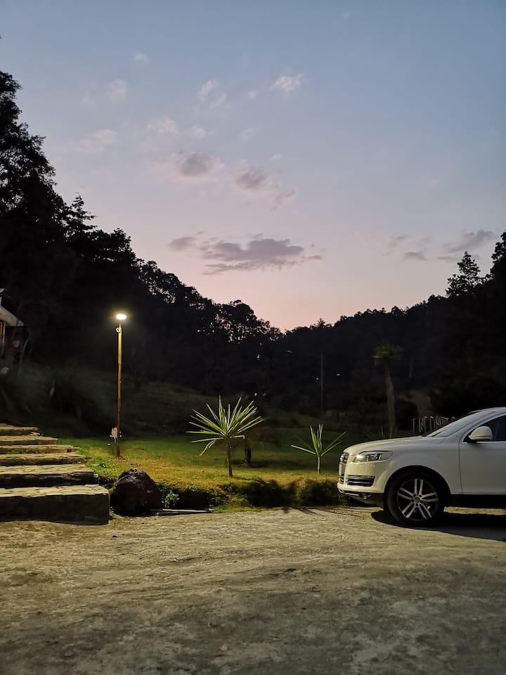 Cabaña 1 Rancho Los Barriles en Acaxochitlán