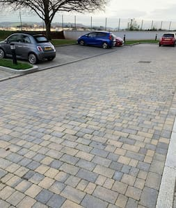 Car park and entrance all flat