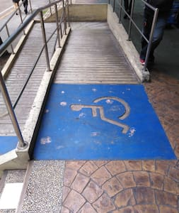 accessibility ramp present in the entrance of the building