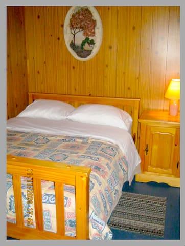 Chambre #2  Un lit double .