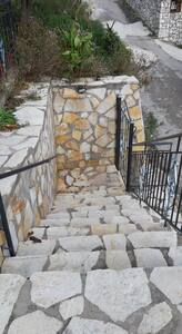 Front stairs entrance from road