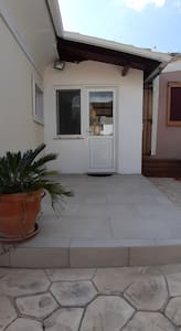 Back entrance & exit from home
