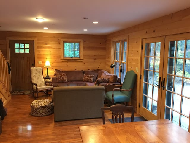 Cozy sitting area, pullout loveseat for first floor living.