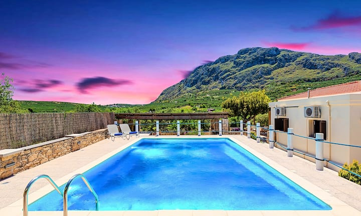 Cretan Kera Villa with Heated Pool