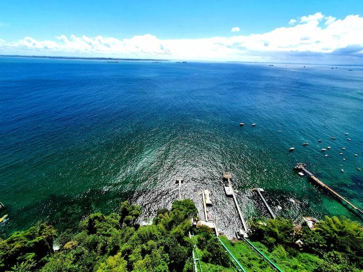 Lindo loft na Vitória com acesso ao mar