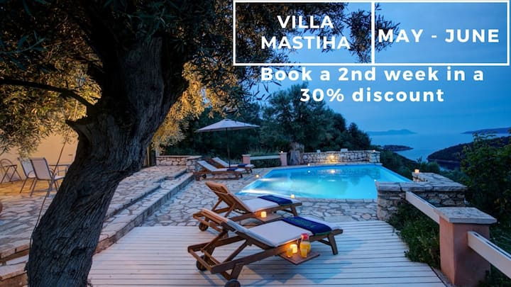 Sea View Villa & Private Pool in Lefkada - Mastiha