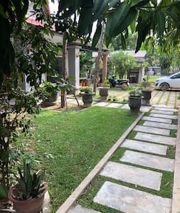 Walk way to Villa and it surrounded by nice path from main road