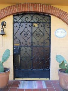 La puerta principal es ancha, cabe muy bien una silla de ruedas.