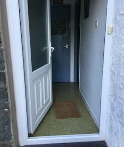 There is a 15 cm. step on the door entrance to the property. Otherwise their are no other steps throughout the accommodation.