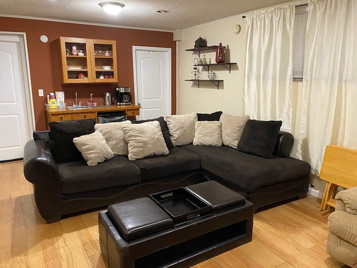 Large 1 Bedroom Private Garage Level Apartment