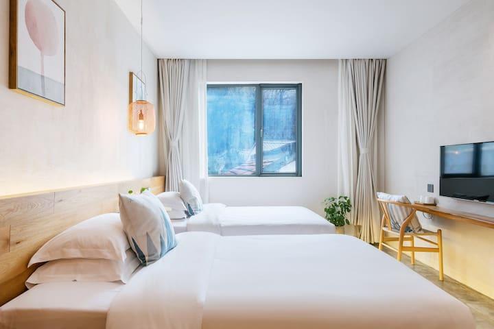 双床房是2张1.2米X2米的单人床