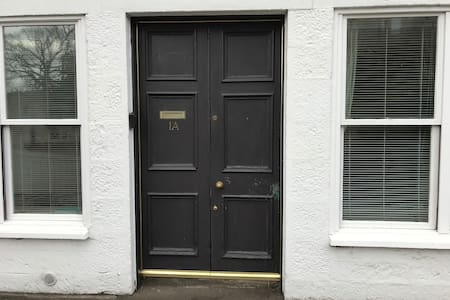 Easy accessibility to the apartment  from street level with one small step to the inside and double entrance doors which both open to provide wide access to the apartment.