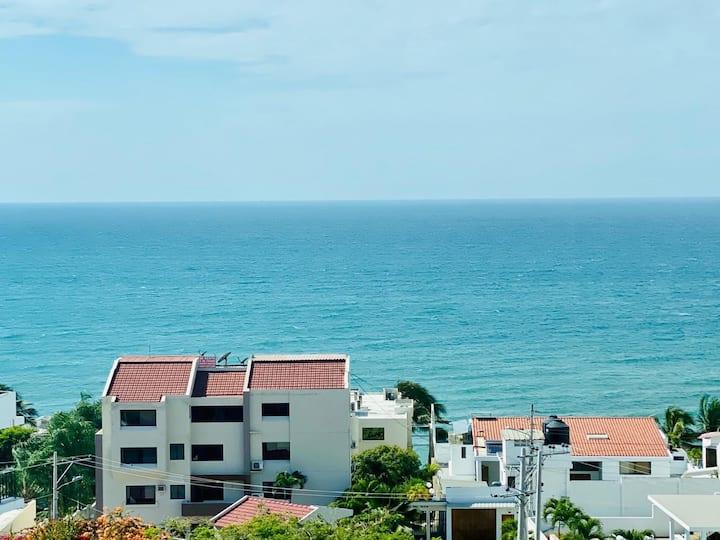 Hermoso departamento en Manta con vista al mar