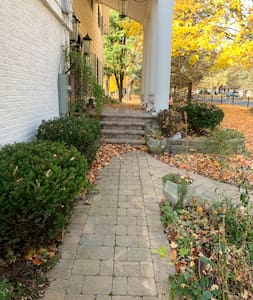Pathway to front porch steps
