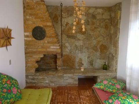 Casa na Fazenda with fireplace - Interior of SP