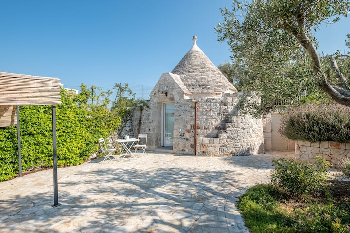 Trullo with pool in the Itria Valley