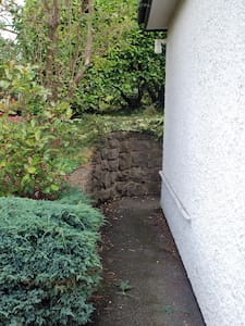 Flat path to back door from car parking space