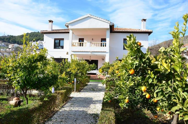 Villa with AC, barbaque, a private pool & Wifi.