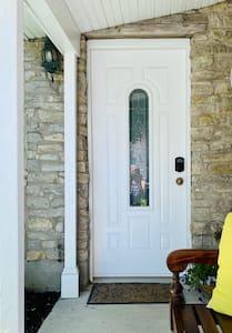 Front door is 32 inches wide.