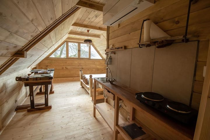 Studio Nesseltal with kitchenette.