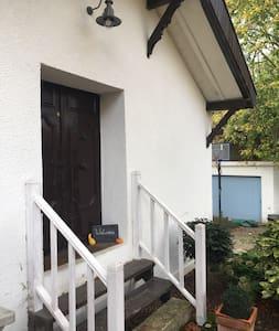 Entrance doorway with motion sensor outside light.