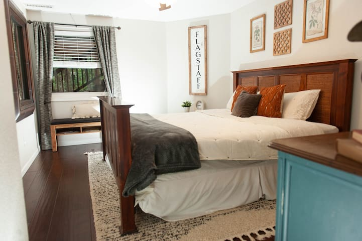 Second bedroom, with comfortable pillow top mattress. Cozy and inviting details throughout.