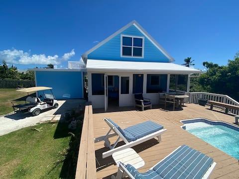 WHITE SOUND house with pool/yard 100 feet to beach