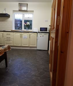 This is the kitchenette with wide entrance and comfortable space for wheelchair user.