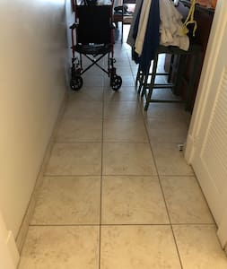 Lots of room for a wheelchair without having to move chairs away.