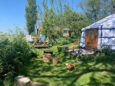 Slapen in een Yurt midden in een natuurgebied!