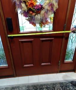 Front door entryway is 36 inches.