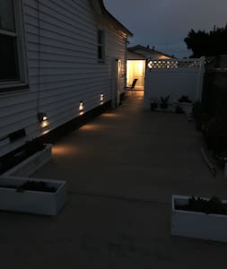 Solar lights designed to turn on at dusk will illuminate the driveway if you arrive in the evening. We also try and leave the porch light on as well