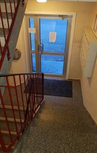 Approx 1 meter wide entrance door