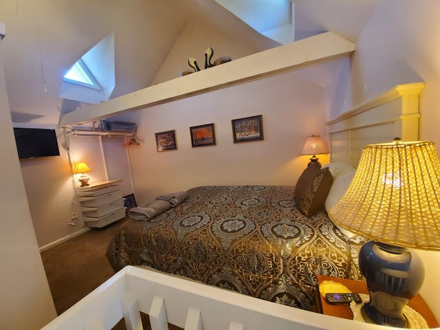 Loft with Queen Bed and its own bathroom