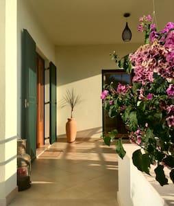Main entrance into the house
